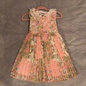Pink floral toddler dress